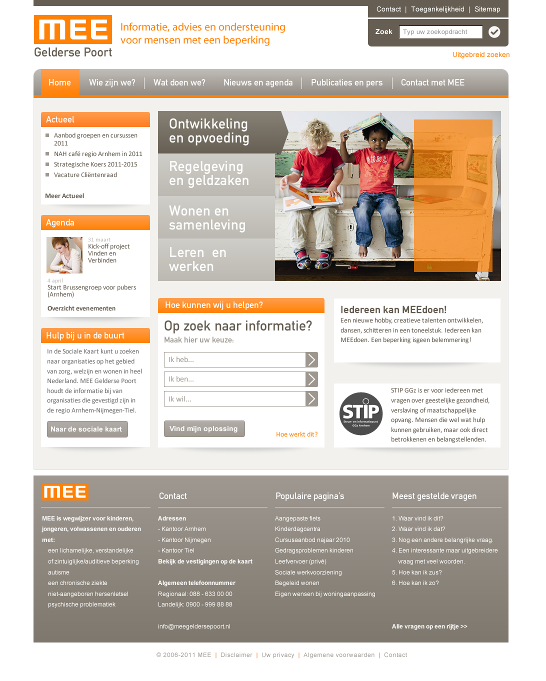 MEE homepage dec 2011