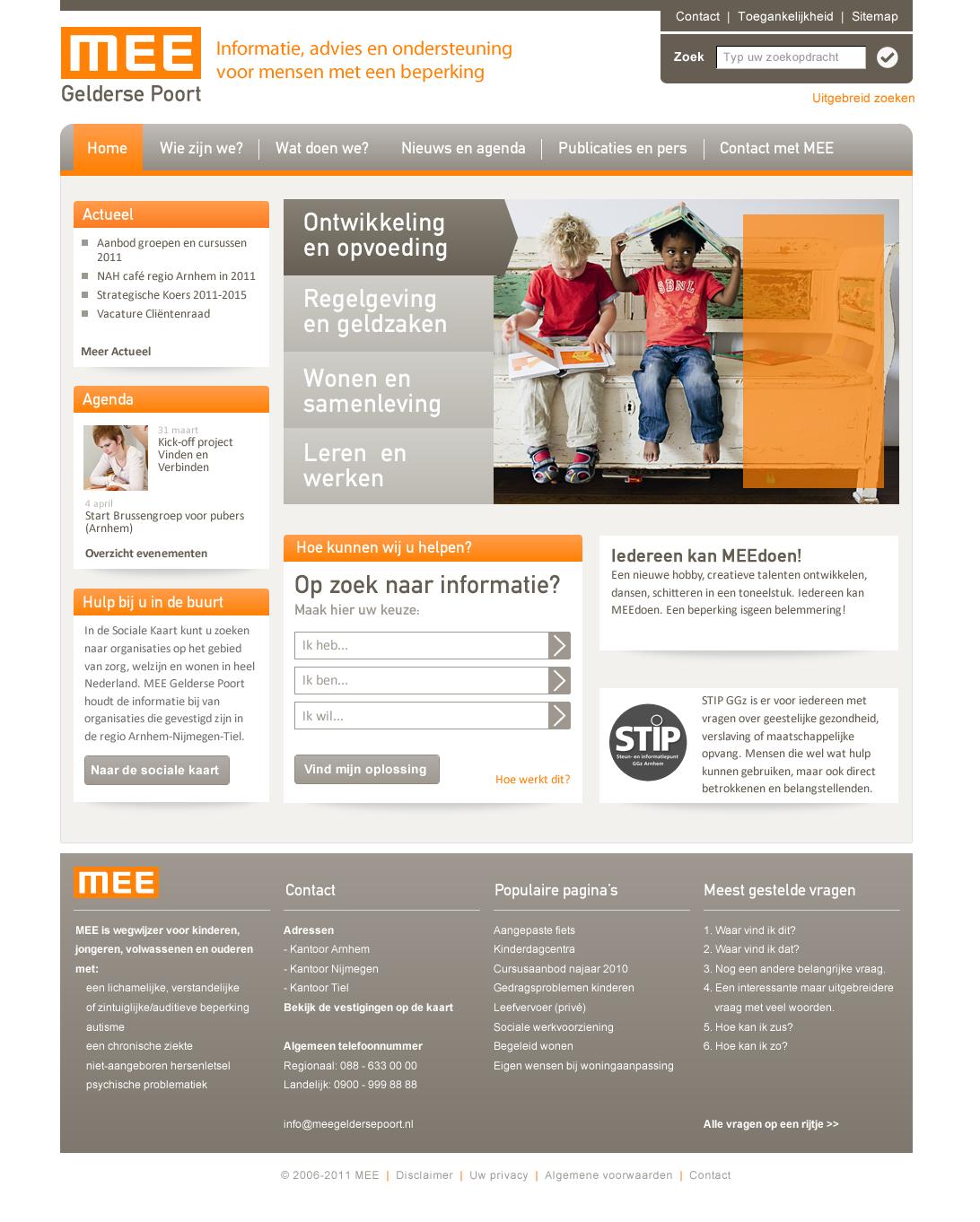 MEE homepage dec 2011