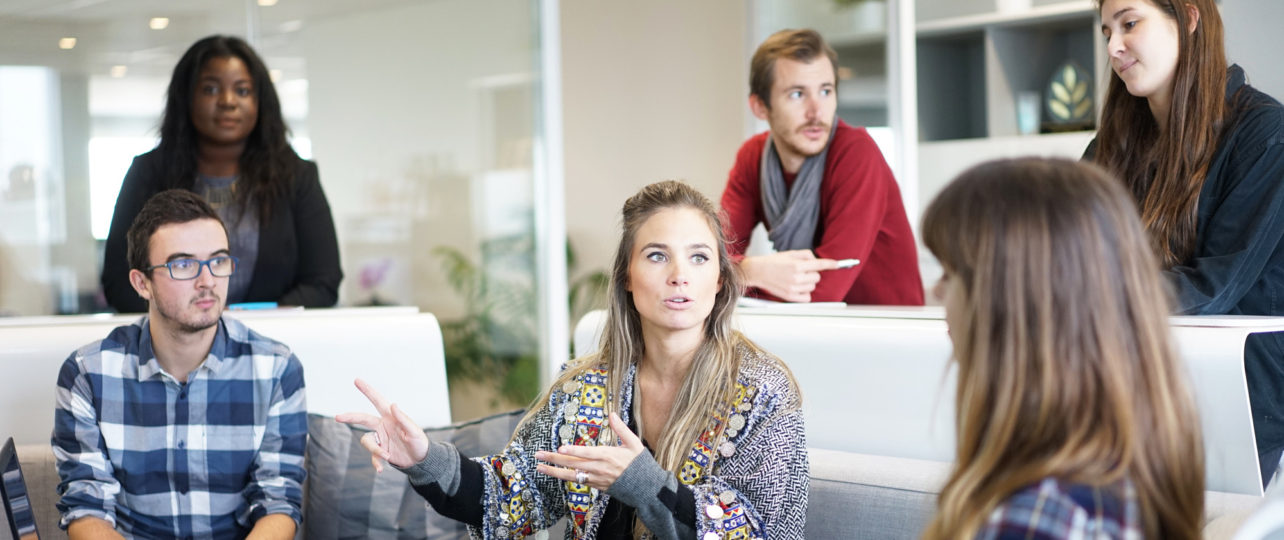 Discussie op het werk