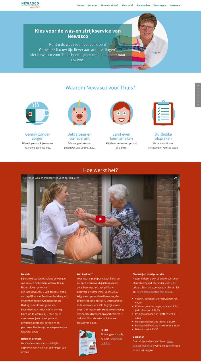 Website Newasco voor Thuis